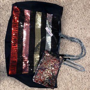 Brand new victoria secret bag and make up bag